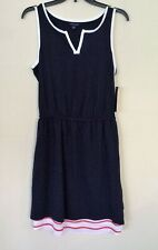 Tommy Hilfiger Red, White, & Blue Dress Casual Cotton Dress 4th of July Sz M NWT