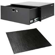 4HE Rack-Schublade Adam Hall 87404 + Anti-Rutschmatte Nonslip-Rack-Drawer-Liner