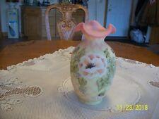 Centennial Burmese Fenton Art Vase #1156 Bill Fenton Diamond Optic 2000-2005