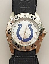 Game Time NFL Indianapolis Colts Men's Watch w/ Black Hook and Loop Strap