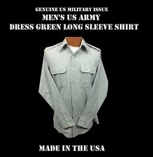 MILITARY SHIRT MEN'S US ARMY DRESS GREEN LONG SLEEVE CLASS A B UNIFORM S M L XL