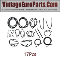 17pcs Rubber Seal Kit for Mercedes 230sl 250sl 280sl 113 w113 63 to 71