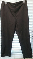 Worthington sz 6 pants women's black cotton blend stretch cuffed ankle washable