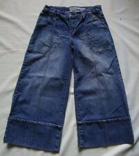 BABY PHAT  Wide Leg STRETCH Distressed CAPRI JEANS sz 7  29x22