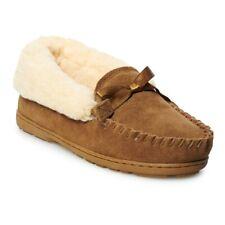 Bearpaw Women's INDIO Genuine Sheepskin Lined Suede Slip On Winter Slippers
