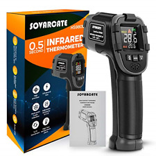 Infrared Thermometer Sovarcate Digital Ir Laser Thermometer Temperature Gun High