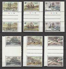 NORFOLK ISLAND  # 293-298,  MNH  SHIP WRECKS,  Gutter Pairs