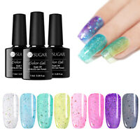UR SUGAR 7.5ml UV Gel Polish Holographicss Purple Pink Soak Off Nail Gel Varnish