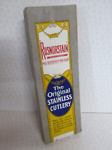 Vintage Rusnorstain The Original Stainless Cutlery 6 Knives Unused Boxed