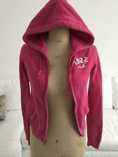 Bright Pink hollister hooded sweat tracksuit top size xs
