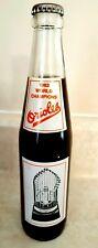 BALTIMORE ORIOLES Coke Bottle 1983 Coca Cola World Series Champions Full Ripken