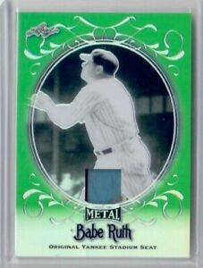 BABE RUTH 2019 LEAF METAL GREEN REFRACTOR OFFICIAL STADIUM SEAT SP 3/4 YANKEES