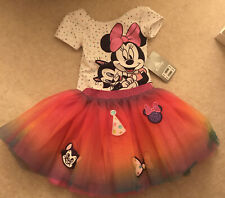 Girls Disney Store Minnie Mouse Birthday Tutu And Leotard Outfit New Age 2