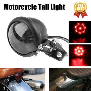 Motorcycle Smoke LED Rear Stop Brake Tail Light For Bobber Cafe Racer Harley US