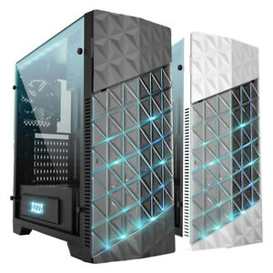 Gamer Gehäuse Azza Onyx 260 Midi Tower USB 3.0, 2x Lüfter und LED ATX Schwarz