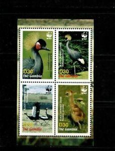 U0621 THE GAMBIA  2006 Birds - Miniature sheet  WWF   MNH