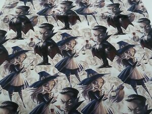 100% Cotton Fabric - WITCHES