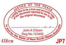 Personalised Self ink Certify Justice of Peace/JP True Copy Stamp 40X60mm JP7