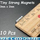 10x Strong Tiny Disc Round Rare Earth Neodymium 3 x 2mm Fridge Magnets Power #SC