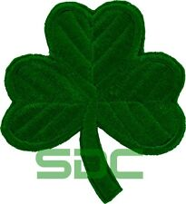 IRISH GREEN CLOVER Embroidered PATCH SHAMROCK Iron-on
