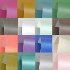 10 x A4 Pearl PREMIUM CARD STOCK 300gsm 12 Colours NEW