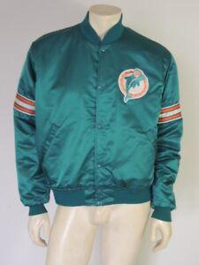 Vintage 1980s Miami Dolphins Nylon STARTER Jacket Size LARGE
