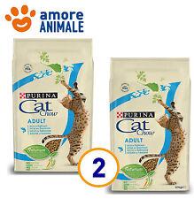 2 SACCHI - Purina Tonus Cat Chow Adult Salmone 10 kg