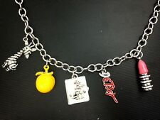 N702 BETSEY JOHNSON Lips Stick Lemon Puppy Charms Giraffe Lion King Necklace US