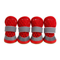 Set of 4 Summer Breathable Dog Shoes Pet Boots For Small Medium Large Dogs