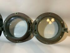 2 Vintage Bronze Nautical Portholes Wilcox Crittenden WC Porthole