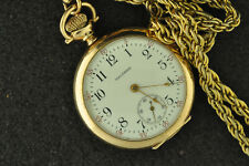 NICE VINTAGE WALTHAM LADIES NECKLACE WATCH GRADE 110 FROM 1908 KEEPS TIME