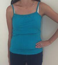 Nursing Breastfeeding Vest Top In Blue M (10) BNWT