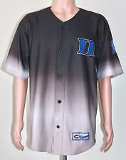 Duke University Jersey Button Up LARGE Gradient Color Blue Gray Basketball NCAA
