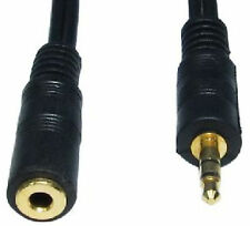 Stereo Speaker Extension Cable Lead - 3.5m Aux Male to Aux Female GOLD 5m 16ft