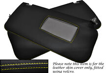 YELLOW STITCH FITS NISSAN NAVARA D22 2001-2004 2X SUN VISOR LEATHER COVERS ONLY