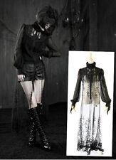 Chemise longue gothique lolita burlesque dentelle pampilles victorienne Punkrave