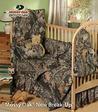 MOSSY OAK CAMOUFLAGE BABY CRIB BEDDING SHEETS, PILLOW CASE, CRIB COMFORTER SKIRT