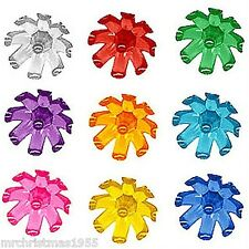 30 Vintage Plastic Flower Blossoms in 9 colors for Ceramic Christmas Trees