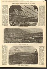 10/22/1859 #01-0041 ANTIQUE PRINT (CANADA) - DRYING COD - CURING SHED