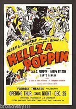 """Olsen & Johnson's """"HELLZAPOPPIN"""" Jay C. Flippen / Happy Felton 1941 Flyer"""