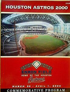 2000 Houston Astros Commemorative Program 96 Full Color Pages, Enron Field MLB