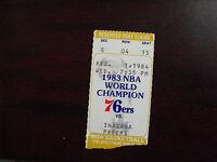 Vintage February 1 1984 Philadelphia 76'ers Ticket Stub