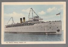 "[49882] Old Ship Postcard S.S. ""Ontario"" in Cobourg, Ontario"