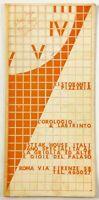 1978 Vintage Menu & Wine L'OROLOGIO & LABIRINTO RISTORANTE Pizzeria Rome Italy