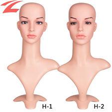 Perückenkopf 50cm Dekokopf Weiblich Perücke Kopf Hutständer Standplatz Ständer