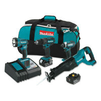 Makita XT440 18V LXT 3.0 Ah Li-Ion 4-Pc. Combo Kit New