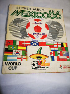 Mexico 86 Completed sticker album Panini 1986