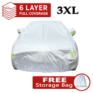 6 Layer Car Cover Water Proof Indoor Outdoor Rain Snow UV Sun Dust fit for Sedan