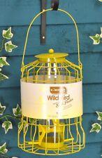 KINGFISHER Bird Feeder With Squirrel Guard Metal Wire Cage - Garden Gift