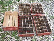 Vintage 5 pcs Coke Coca Cola  Red Wood Crate Box good for decor